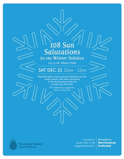 108 Sun Salutations for the Winter Solstice – Dec. 21 2019
